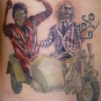 Michael Jackson Zombie with Beetlejuice Tattoo
