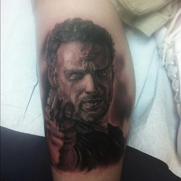 Rick Grimes Walking Dead Tattoo