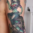 Biker Zombie Chick Tattoo