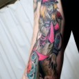 Japanimation Zombie Girl Tattoo