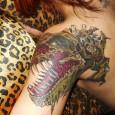 Sexy Dinosaur Zombie Tattoo
