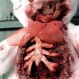 Valentine's zombie teddy bear