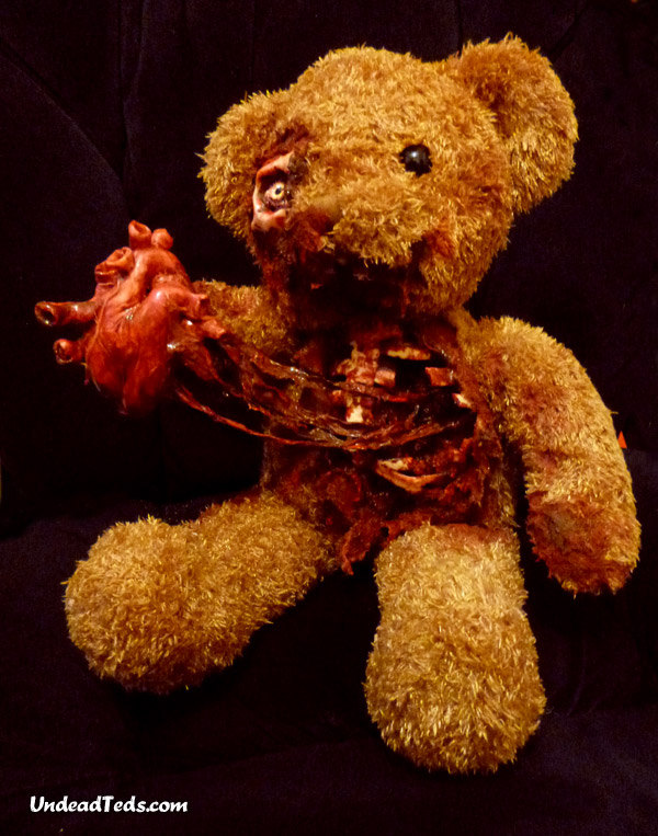 Zombie Teddy Bear Loves you
