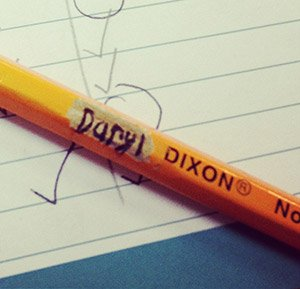 Daryl Dixon pencil | Classroom Fun