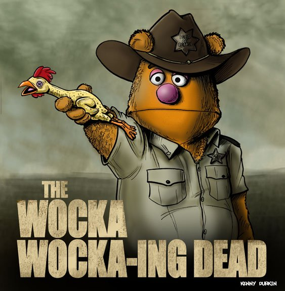 The Walking Dead Fozzie Bear