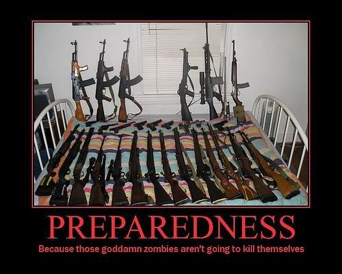 zombie survival motivational poster wallpaper