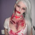 hot blonde zombie girl