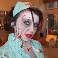 sexy zombie nurse halloween makeup