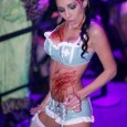 sexy zombie stripper nurse in lingerie