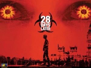 28 days later movie zombie wallpaper infected zombie eyes