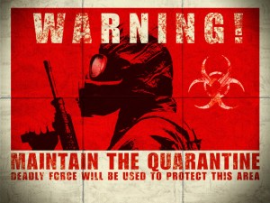 28 Days Later Maintain the Quarantine biohazard Zombie Wallpaper