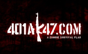 401Ak47 A Zombie Survival Plan Wallpaper Black Red