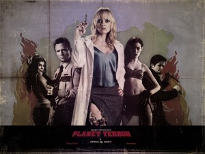 Planet Terror Cast Dr. Dakota  Zombie Wallpaper