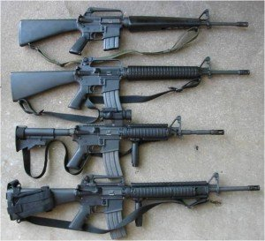 m16a1, m16a2, m4a1, m16a4 zombie-killing-weapons