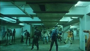 zombies in parking structure in zombie apocalypse