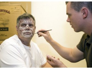 highschool teacher becoming zombie by makeup artist