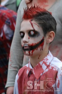 zombie boy at zombie walk