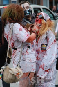 zombies in blood