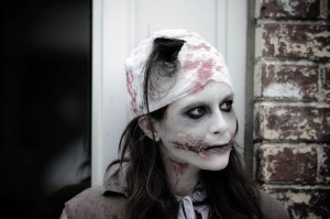 zombie girl at zombie walk