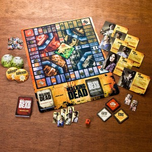 the walking dead board game - pieces parts