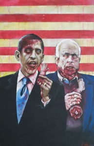 zombies obama and mccain art