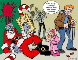 real zombie santa cartoon