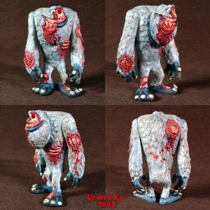 abominable snowman zombie figure