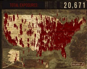The Walking Dead zombie map of united states and canada