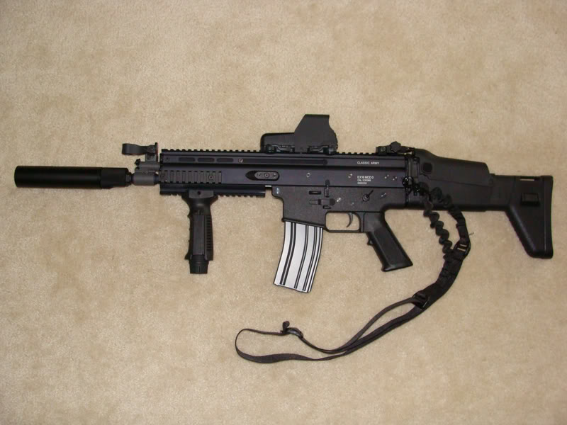SCAR-L Assault Rifle with Scope and Silencer