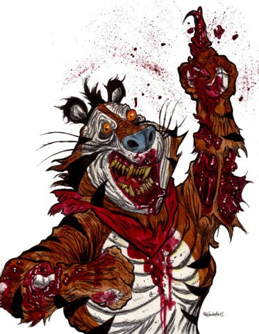 Tony the Tiger Zombie | Zombie Art