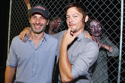 The Walking Dead Comic Con 2012 party with Rick Grimes and Daryl
