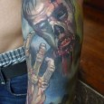 Decayed Zombie Tattoo