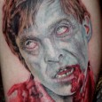 Dawn of the Dead Flyboy Zombie Tattoo