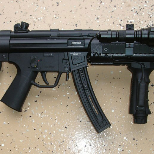 gsg-5 long rifle with accessories