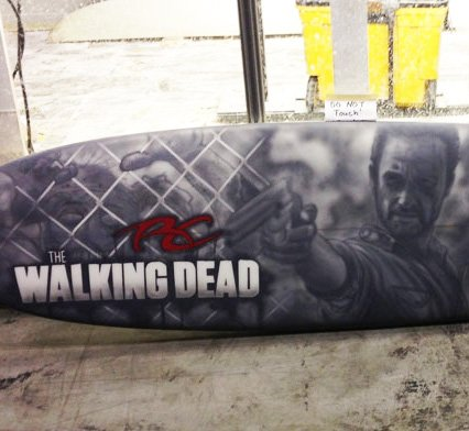Rick Grimes The Walking Dead Surfboard